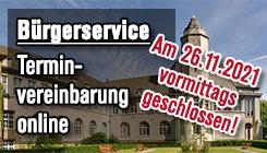 Grafik: Bürgerservice Terminvereinbarung online